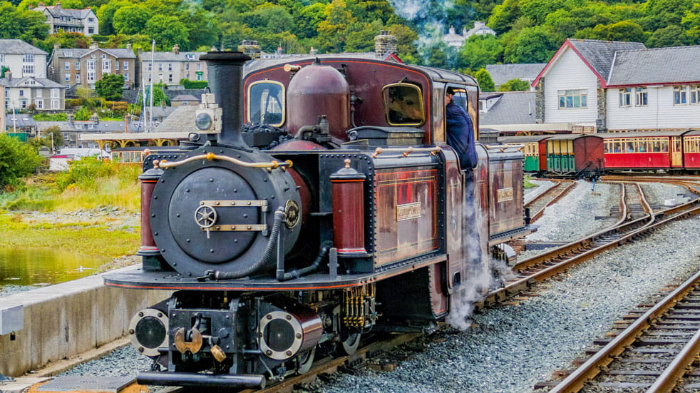 Enjoy the dramatic heights of Snowdonia from two Welsh railways