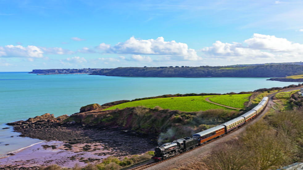 Dartmouth Steam Railway offers glorious views of the sea