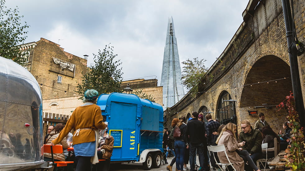 The best street food UK: Flat Iron Square, London