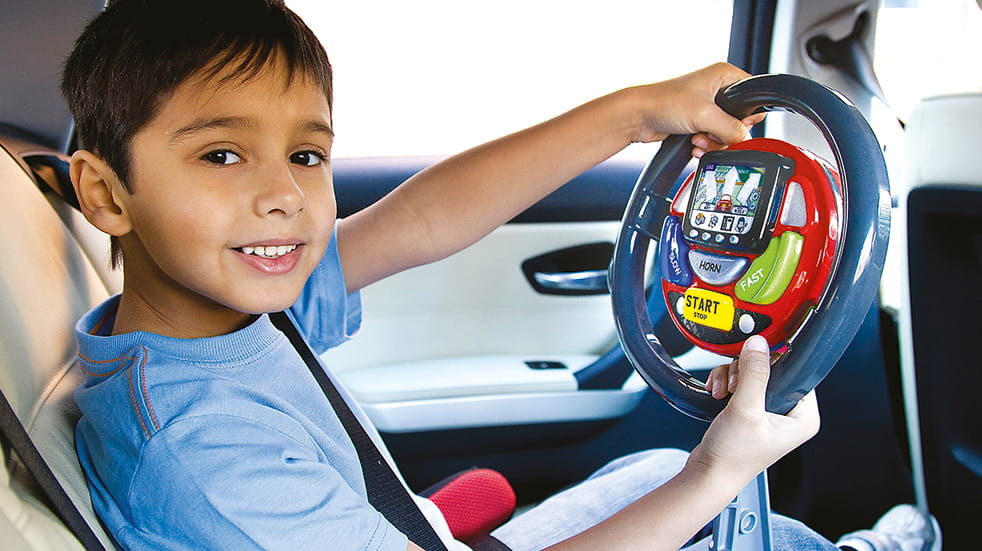The best travel toys for kids: Casdon satnav steering wheel