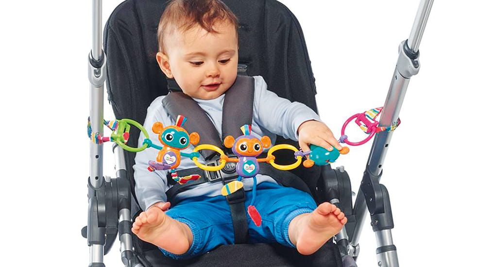 The best travel toys for kids: Lamaze monkey links