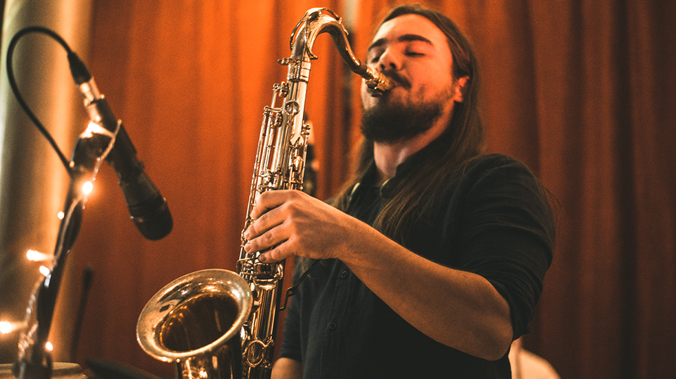 New music from Boundless Breaking competition winners: Laimu saxophone player