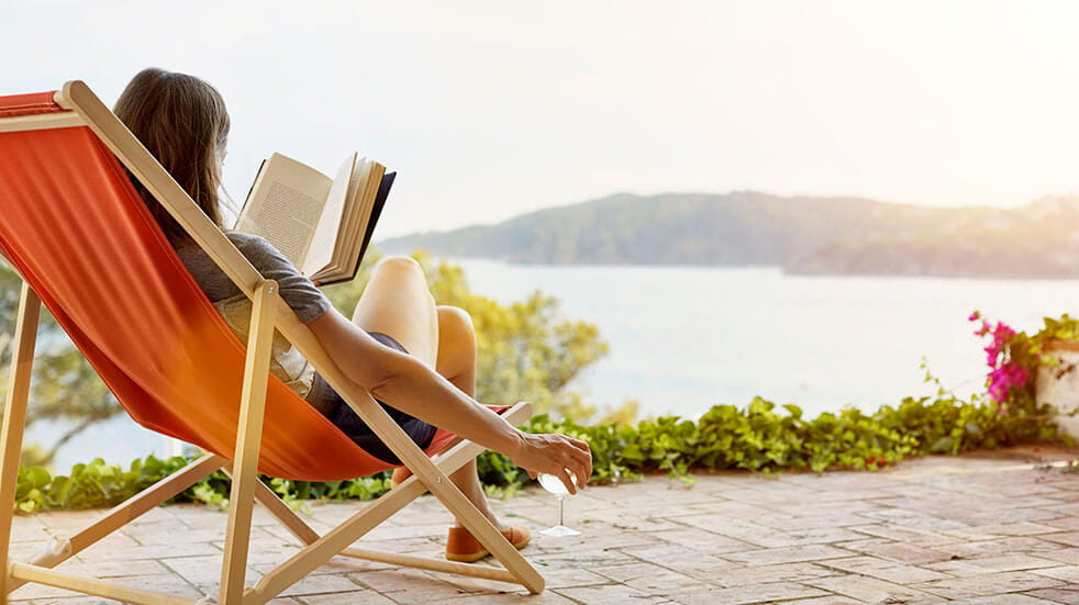 Take a break to boost your wellbeing: relax with a book