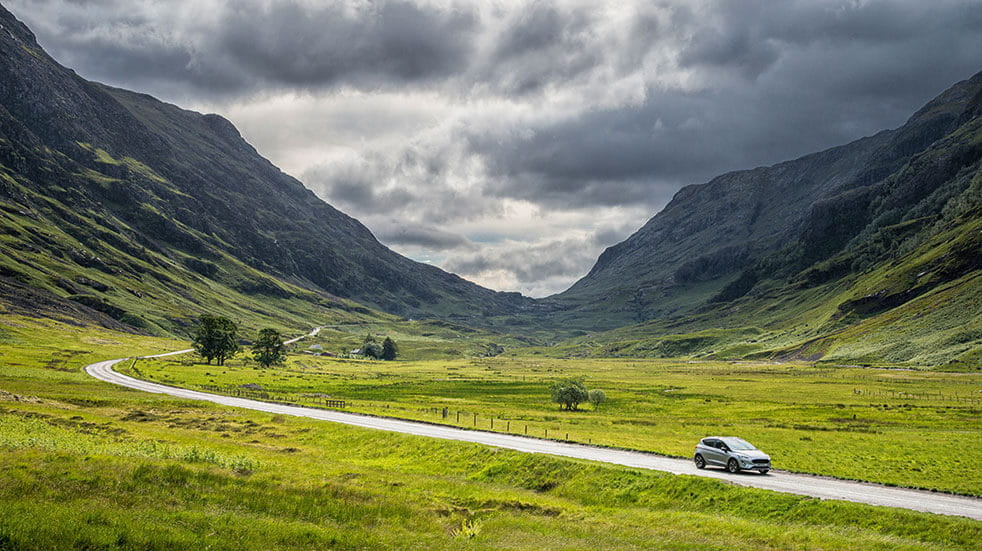 Britains best drive - dramatic scenary