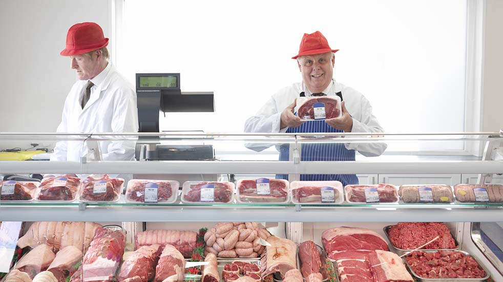 British Food and Drink Fortnight butcher smiling
