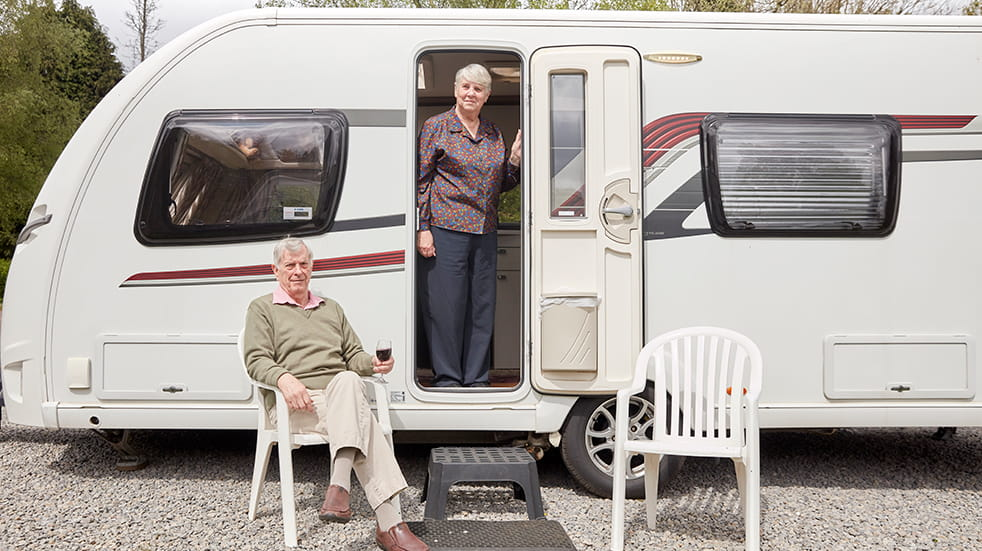 Camping and Caravanning Group at Whitemead: rally marshals Barry and Lynn