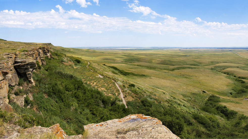 Head-Smashed-In Buffalo Jump World Heritage Site Canada