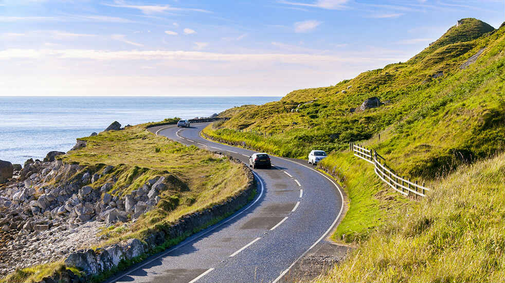 Car safety checks for summer: road trip on a sunny day
