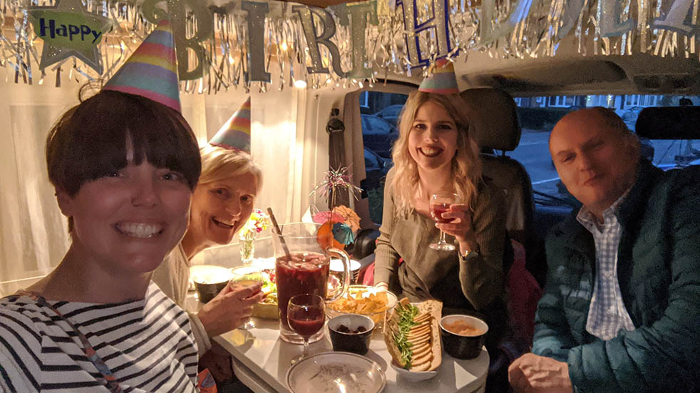 Caravans being used for staycations; birthday pub crawl