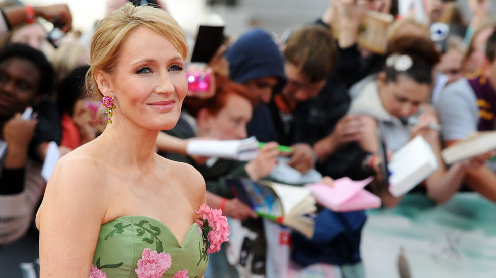 JK Rowling at a Harry Potter premiere