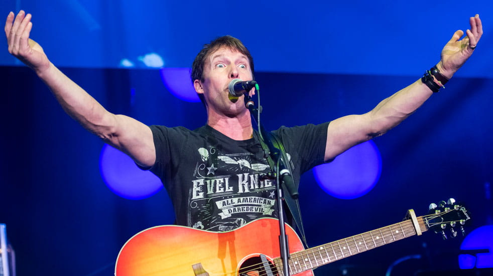 Coldplay frontman James Blunt on stage