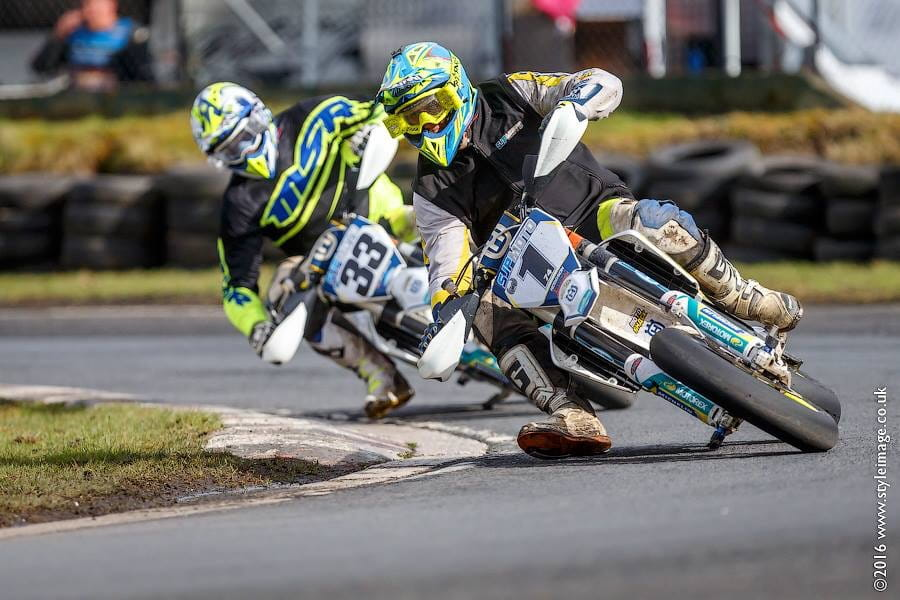 Supermoto action from the circuit at Cholmondeley