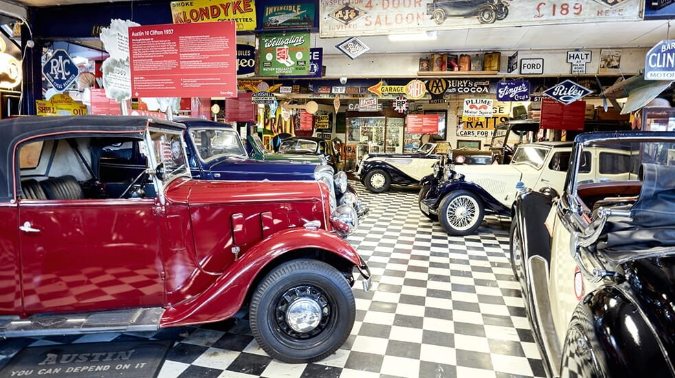 Bourton-on-the-Water: classic cars at the Cotswold Motoring Museum