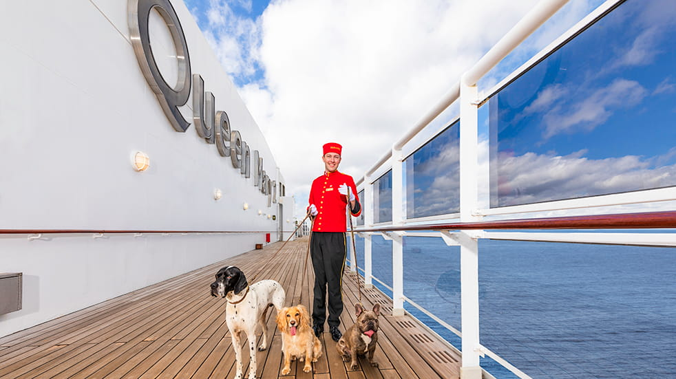 Cunard cruise guide: kennels on transatlantic QE2 cruise ship