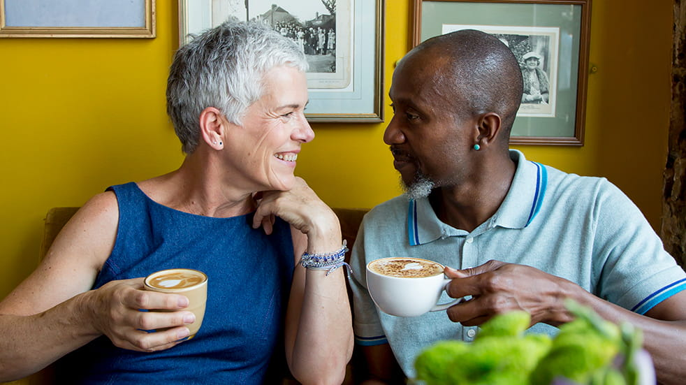 Dating in your 50s - Lumen app, cafe date