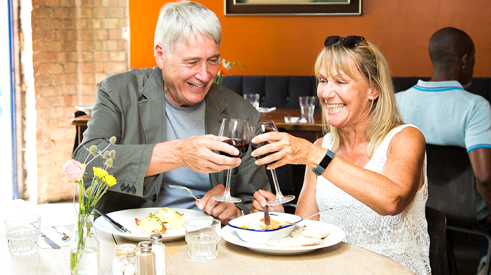 Dating in your 50s - Lumen app, restaurant date