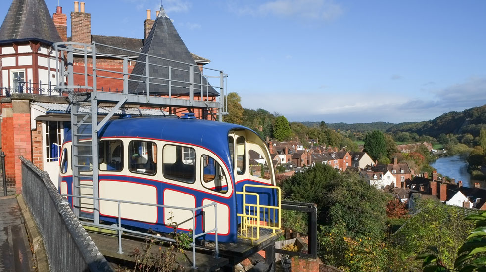 Days out Shropshire Cliff Railway