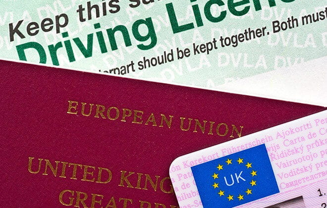 UK passport and driving license