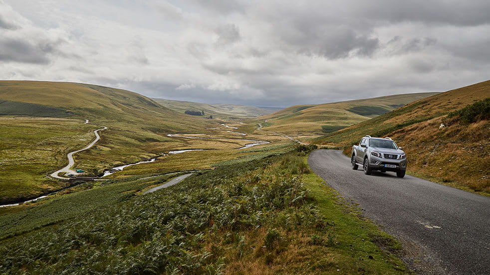 The Elan Valley combines epic scenery with winding roads