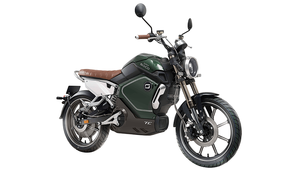 Electric motorbike and scooter reviews: Super Soco TC