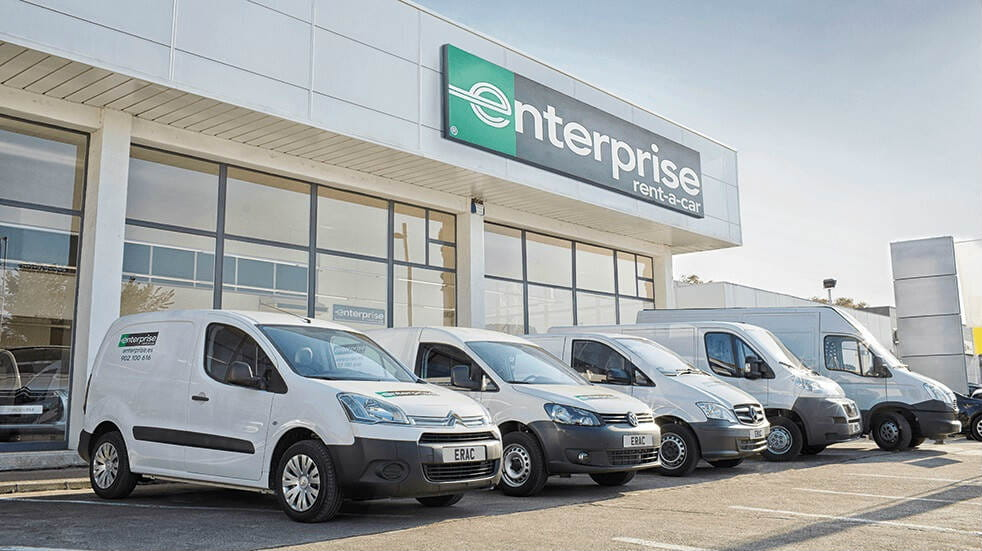 Enterprise van hire - fleet of vans