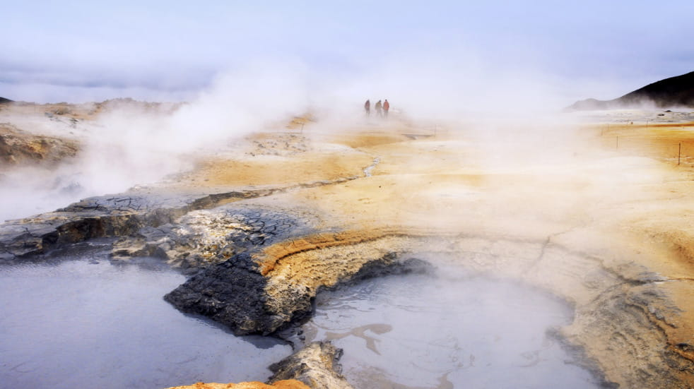 Geothermal pools in North Iceland