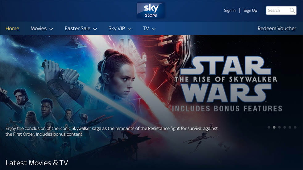 TV streaming; Sky Store
