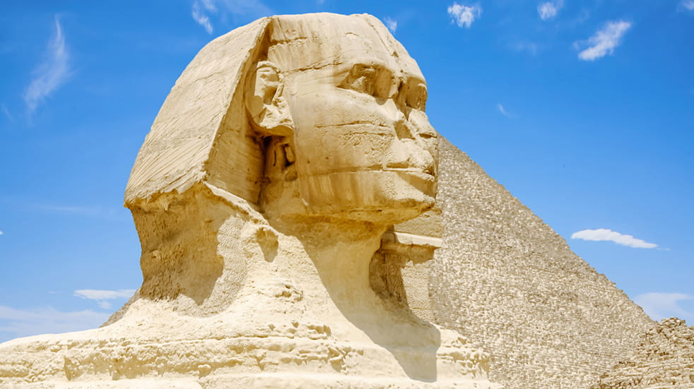 Expert guide to the Nile: Egyptian sphinx