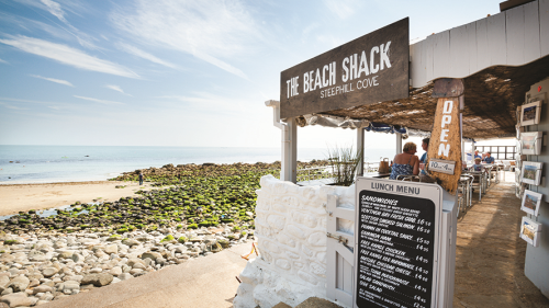 The Beach Shack, on the sands at Ventnor