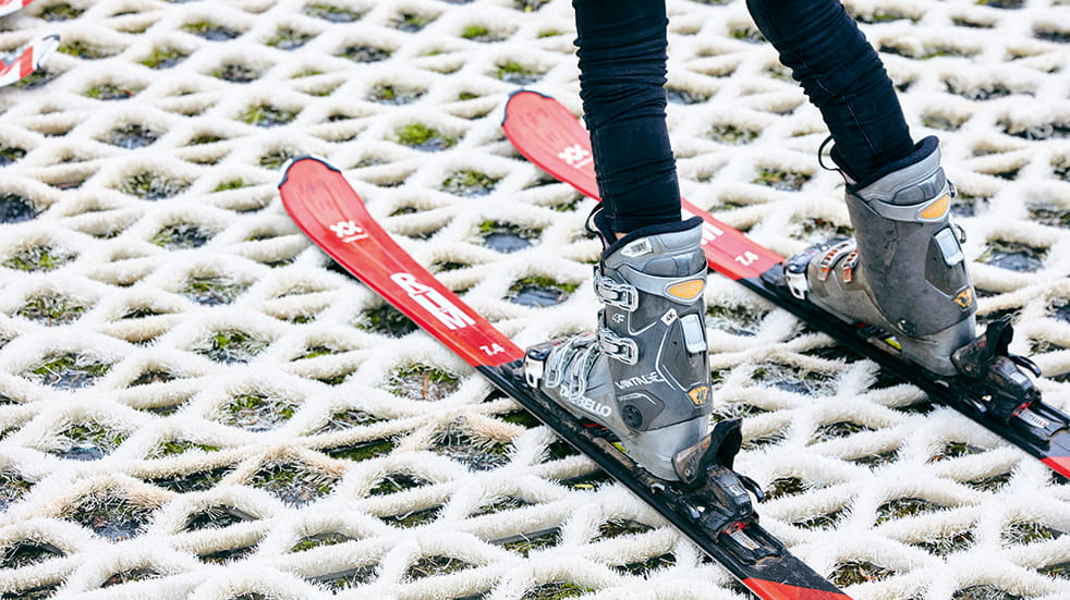 Learn to ski as a family: dry ski slope