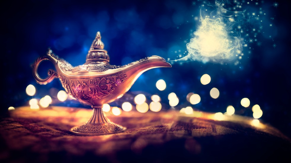 Free events March Arabian genie bottle