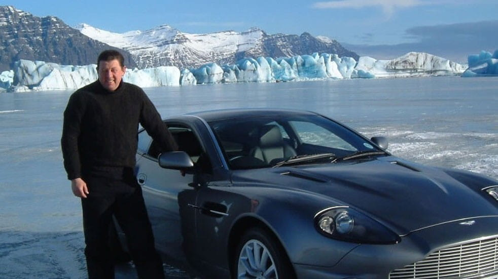 Free events March Jim Dowdall stood next to car