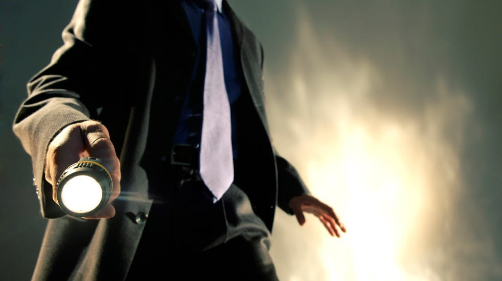 Free events March detective with torch