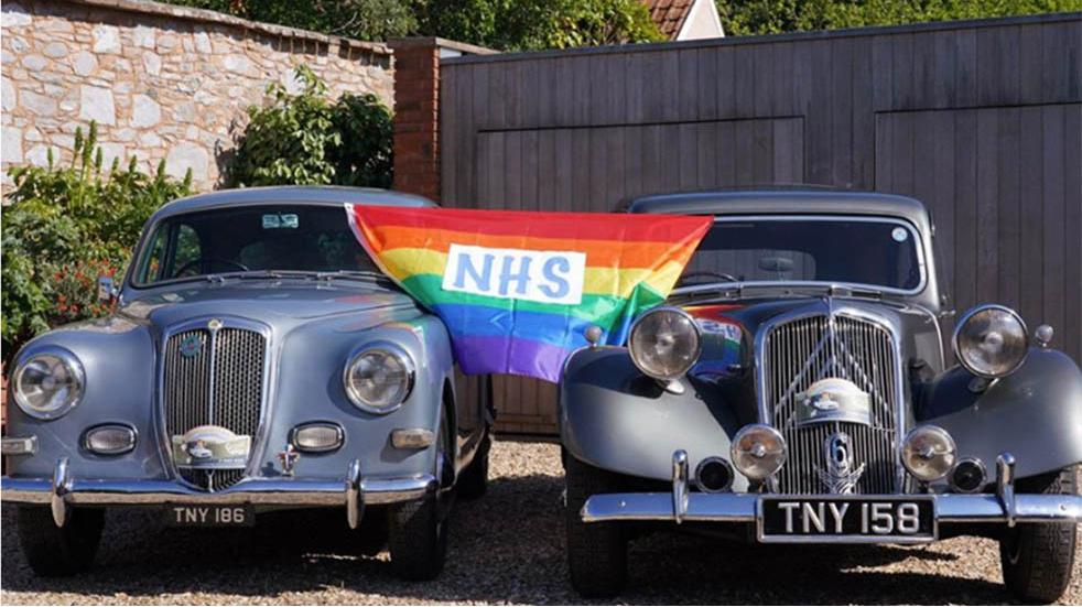 Free events March two classic cars NHS flag