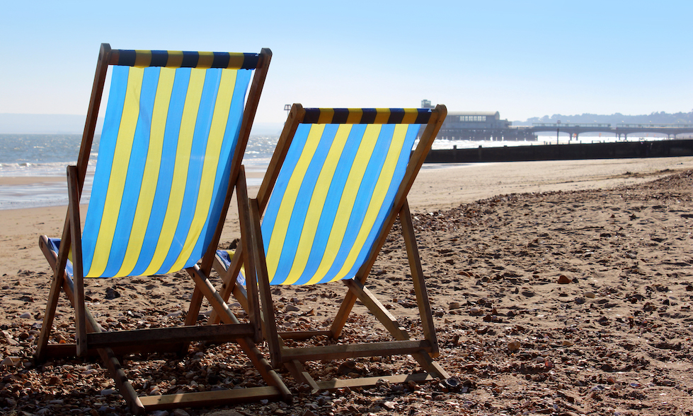 Relaxing on Bournemouth's beautiful beaches is free