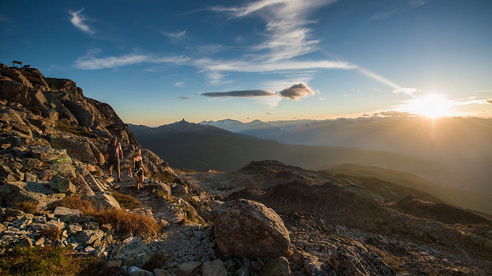 Frontier Canada travel guide: Whistler mountain with the sunrise