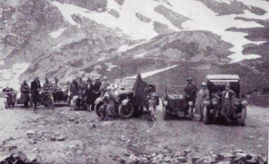 CSMA members at the top of the Galibier in 1927