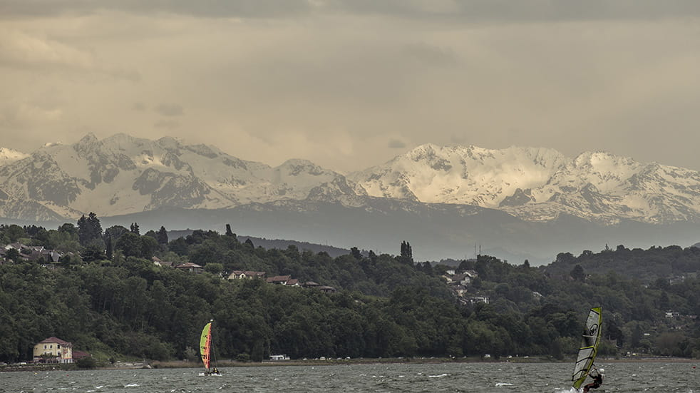 Sailing on Lac du Bourget