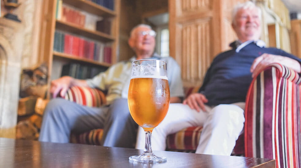 Ghyll Manor review: Don and his brother-in-law relax with a beer