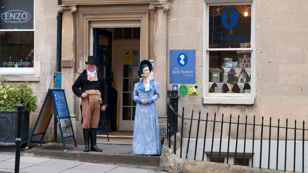 The Jane Austen Centre can be found right in the middle of Bath