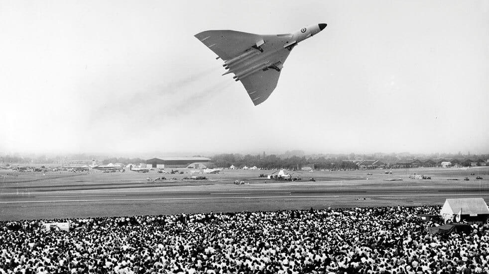 The history of the Avro Vulcan aircraft: Vulcan plane at the Farnborough air show in 1959