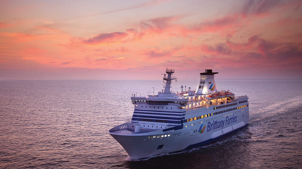 Take a family holiday by ferry: sailing at sunset
