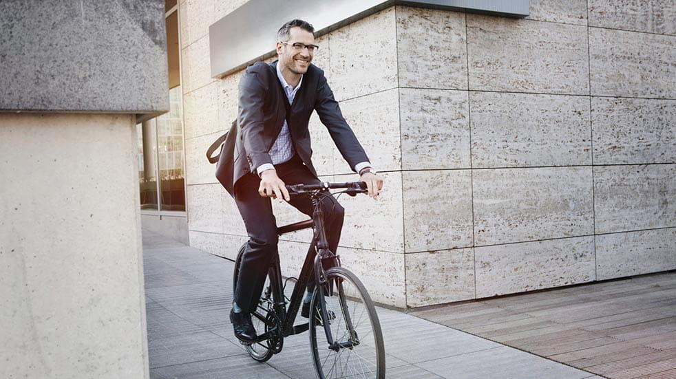 How public sector employers can thank their staff; man on bike