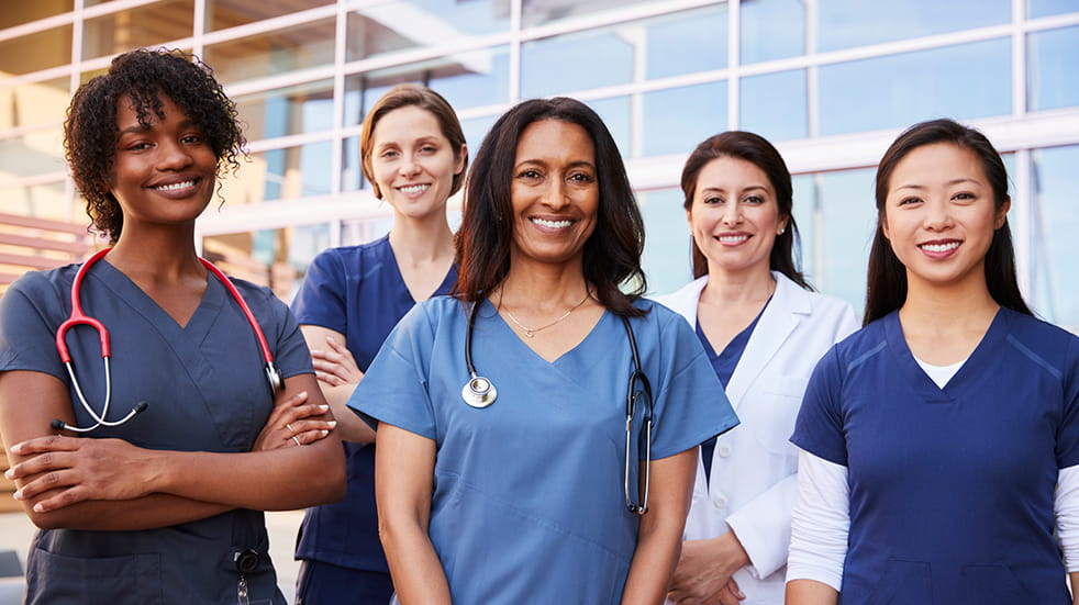 International Women's Day: female doctors and nurses