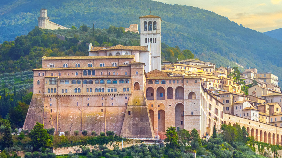 The Basilica of  St Francis in Assisi