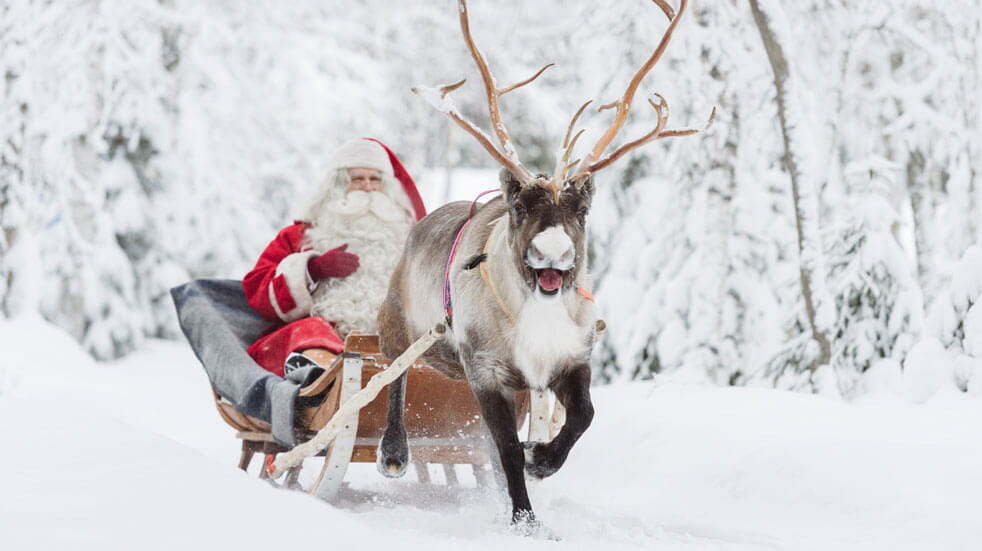 Lapland adventure sponsored post Santa reindeer sled