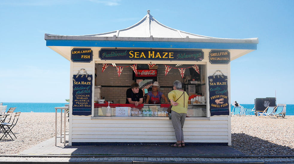 Local food and drink Sussex, Ghyll Manor: Sea Haze seafood hut