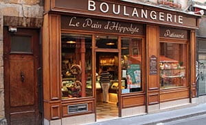 Traditional boulangerie in Lyon