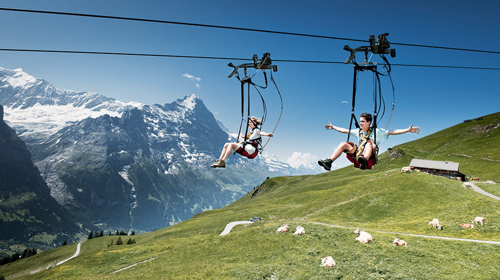 Made in Bern Switzerland mountains: First Flyer First Flieger ride
