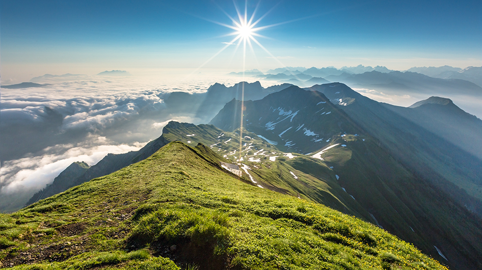 Made in Bern Switzerland mountains Brienzer Rothorn